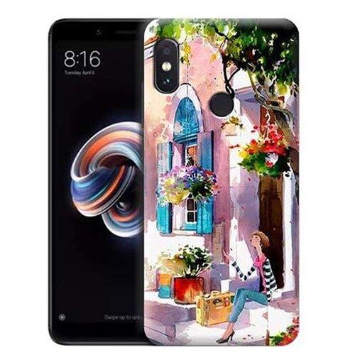 Чехол Gosso 705235 для Xiaomi Redmi Note 5 девочка на цветущей улочкеЧехлы<br>