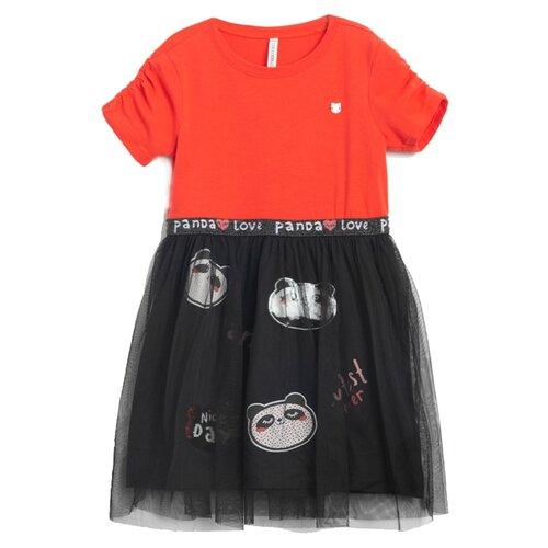 Платье COCCODRILLO размер 92, красный/черный