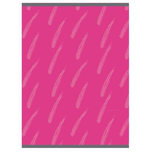 Купить Канц-Эксмо Тетрадь для конспектов в клетку, 48 л., Штрихи на розовом, Тетради