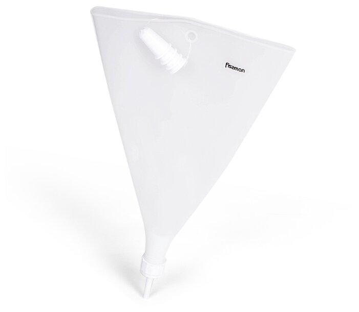 Кондитерам Fissman Мешок кондитерский 39,5x21см с 4 насадками прозрачный (силикон)