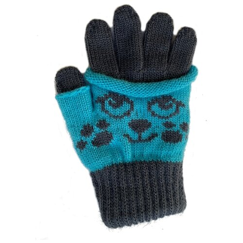 Перчатки Margot Bis 3454 размер 14, серый/голубой серьги kameo bis kameo bis mp002xw021vs