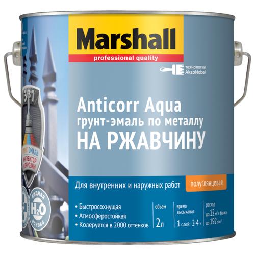 Эмаль акриловая (АК) Marshall Anticorr Aqua BC прозрачный 2 л
