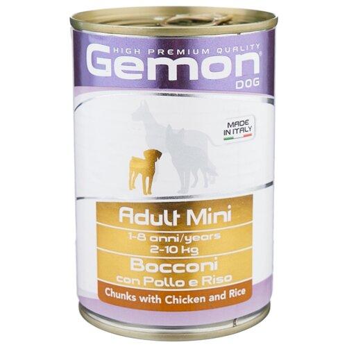 Корм для собак Gemon Кусочки с курицей и рисом. Консервы для собак мелких пород (0.415 кг) 1 шт.