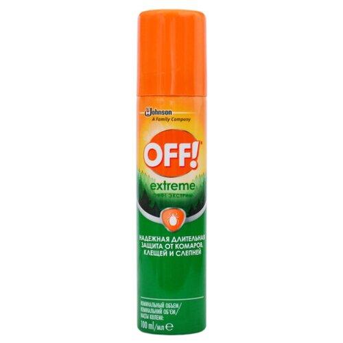 Аэрозоль OFF! Extreme от комаров и клещей 100 мл off крем от комаров экстра защита 75 мл
