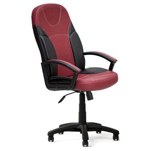 Компьютерное кресло TetChair Твистер, обивка: искусственная кожа, цвет: бордовый/черный компьютерное кресло tetchair барон обивка искусственная кожа цвет бежевый