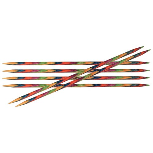 Купить Спицы Knit Pro Symfonie 20128, диаметр 2.8 мм, длина 10 см, красный/синий/желтый