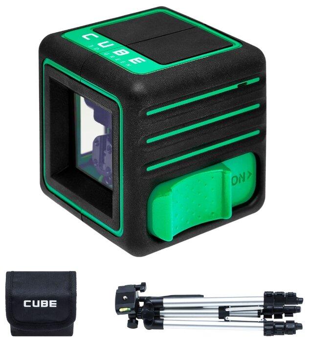 Лазерный уровень ADA instruments Cube 3D Green Professional Edition (А00545) со штативом — купить по выгодной цене на Яндекс.Маркете