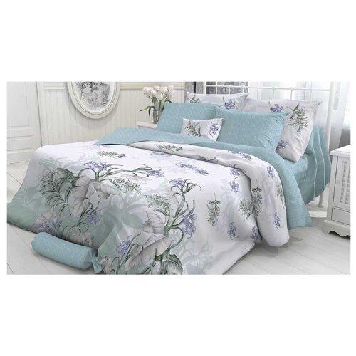 Постельное белье 1.5-спальное Verossa Branch 50х70 см, перкаль серый/голубой цена 2017