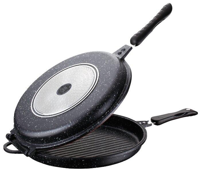 Купить Сковорода двойная Peterhof PH-25377 32 см, черный по низкой цене с доставкой из Яндекс.Маркета (бывший Беру)