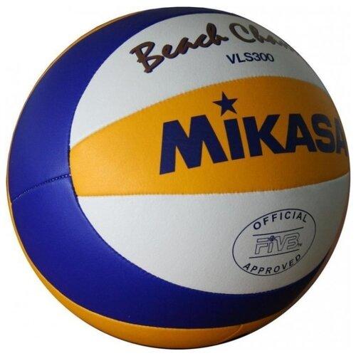 Волейбольный мяч Mikasa VLS300 белый/желтый/синий мяч волейбольный mikasa mva300 синий желтый размер 5