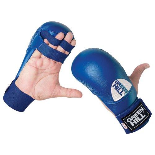 Тренировочные перчатки Green hill Cobra KMC-6083 для карате синий L