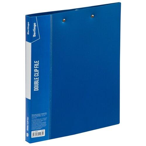 Berlingo Папка с 2-мя зажимами Standard А4, 17 мм, 700 мкм, пластик синий, Файлы и папки  - купить со скидкой