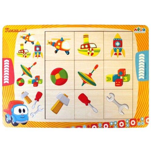 Рамка-вкладыш Мастер игрушек Грузовичок Лёва: Ассоциации (IG0301), 9 дет.