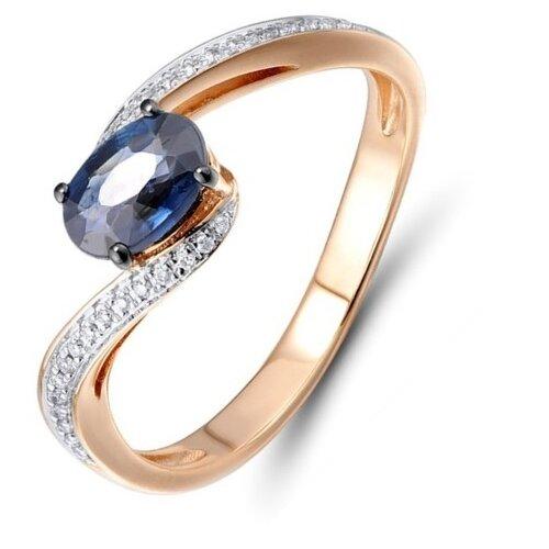 Бронницкий Ювелир Кольцо из красного золота R01-D-R306443SAP, размер 16 кольцо из золота r01 d r306443sap