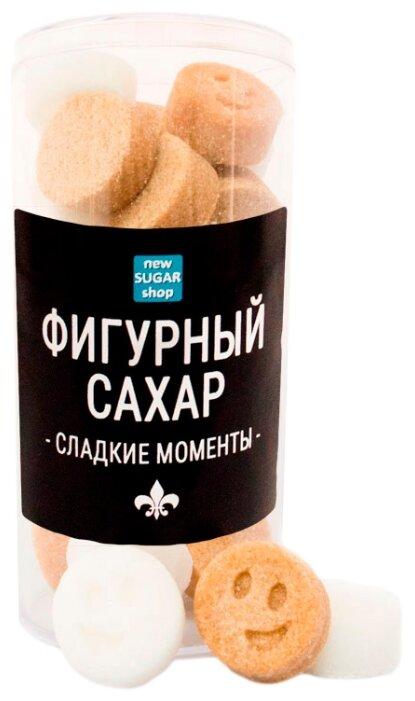 Сахар New SUGAR shop фигурный Сладкие моменты Смайлики сахарные тростниковые и белые 0.16 кг