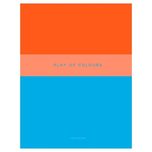 Купить Канц-Эксмо Тетрадь Неоновый дуэт в клетку, 48 л., голубой/оранжевый, Тетради