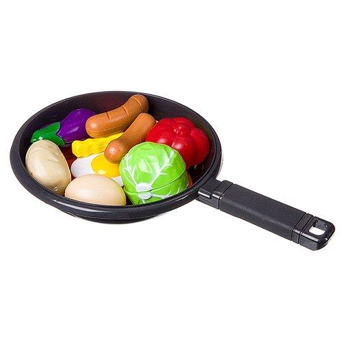Набор продуктов с посудой Yako Моей Малышке Д87107 разноцветный