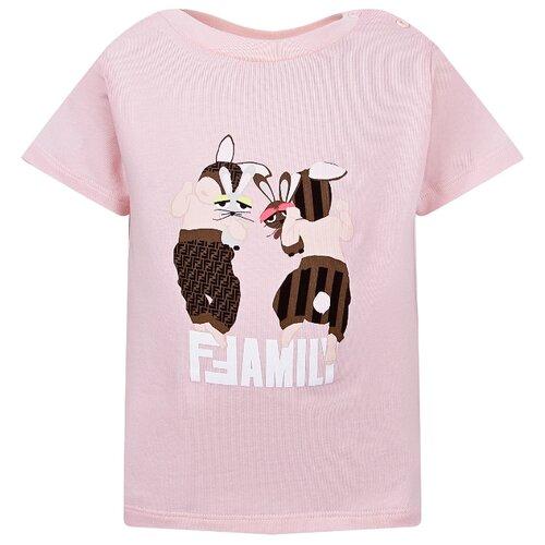 Купить Футболка FENDI размер 68, розовый, Футболки и рубашки