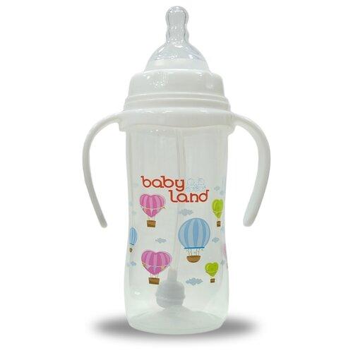 Купить Baby Land Бутылочка с антиколиковой системой с ручками, 150 мл (арт. 360) с рождения, белый, Бутылочки и ниблеры