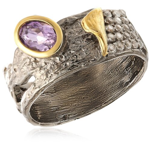 Бронницкий Ювелир Кольцо из серебра TSYR00864-R-AM, размер 17 бронницкий ювелир кольцо из серебра s85610001 размер 17 5