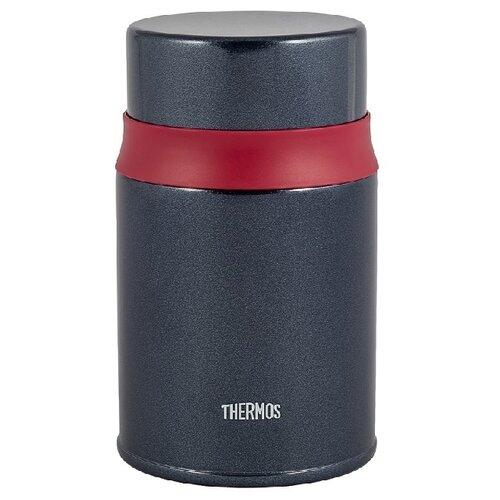 Термос из нерж.стали в комплекте с ложкой тм THERMOS TCLD-520S 0.52L, черный