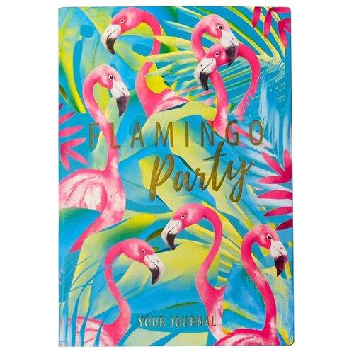 Купить Ежедневник ArtFox Flamingo party 4812806, искусственная кожа, А5, 96 листов, микс, Ежедневники, записные книжки