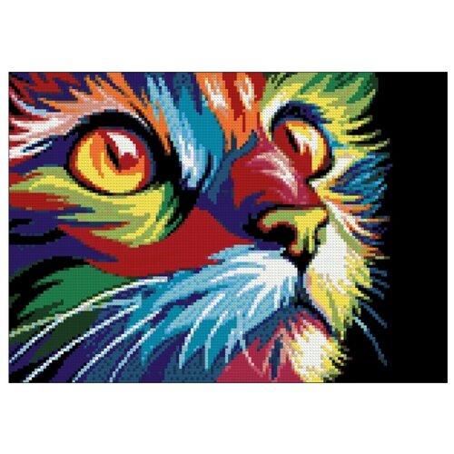 Фото - Гранни Набор алмазной вышивки Радужный кот (Ag 478) 27х38 см гранни набор алмазной вышивки радужный слон ag 482 27х38 см