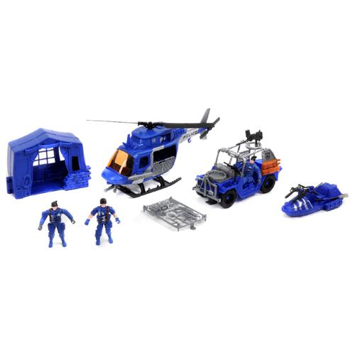 Купить Набор техники Shantou Gepai Rescue Team Полиция 1713708 синий, Машинки и техника