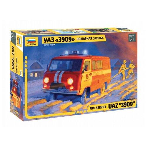 Купить Сборная модель ZVEZDA УАЗ 3909 Пожарная служба (43001) 1:43, Сборные модели