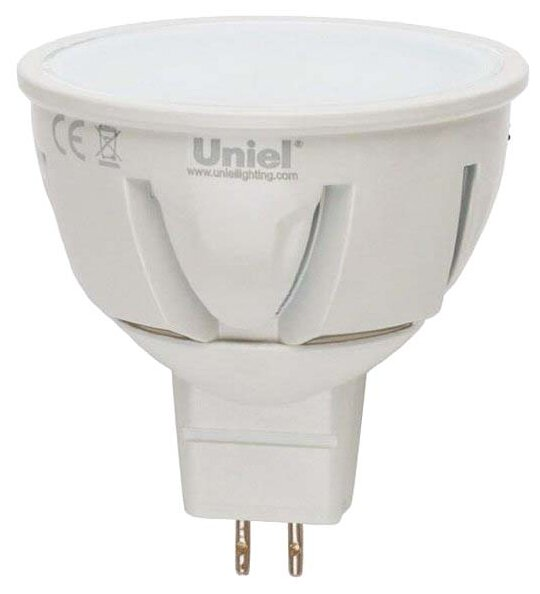 Лампа светодиодная Uniel LED FR/DIM PLP01WH картон, GU5.3, JCDR, 6Вт — цены на Яндекс.Маркете