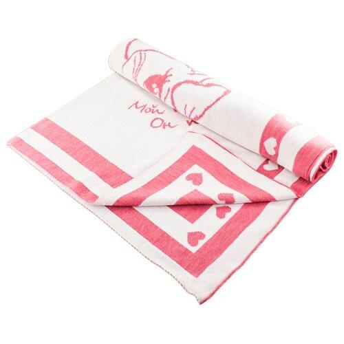 Купить Плед LEO 1611 90x100 розовый котёнок, Покрывала, подушки, одеяла