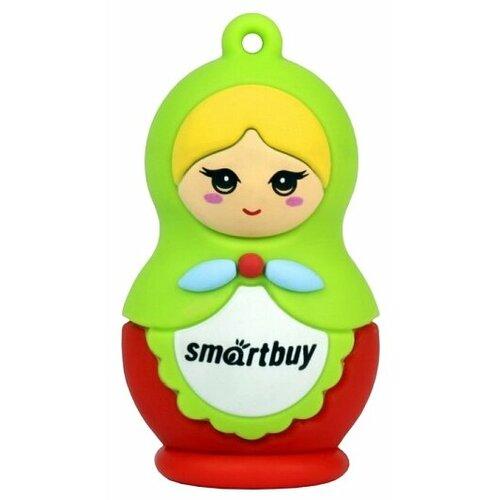 Флешка SmartBuy Wild series Matrioshka 16 GB, зеленый/красный
