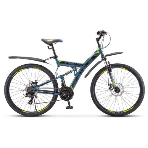 """Горный (MTB) велосипед STELS Focus MD 21-sp 27.5 V010 (2020) серый/желтый 19"""" (требует финальной сборки)"""