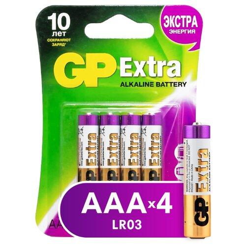 Фото - Батарейка GP Extra Alkaline AАA 4 шт блистер батарейка gp super alkaline aa 16 шт блистер