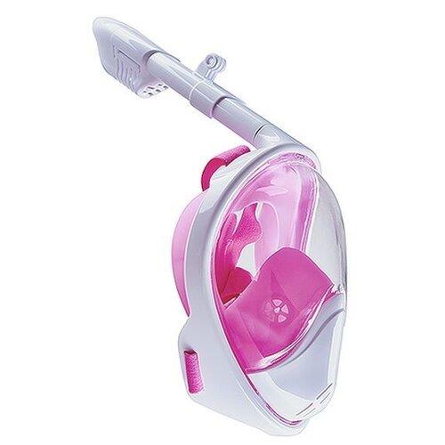 маска для плавания madwave junior flame mask цвет розовый Маска для плавания LINNBERG Marine с выпуклым стеклом бело-розовый