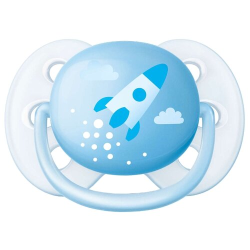 Пустышка силиконовая ортодонтическая Philips AVENT Ultra Soft SCF522/10 0-6 м (1шт) голубой сменный фильтр картридж philips для душевой лейки philips awp105 10 1шт