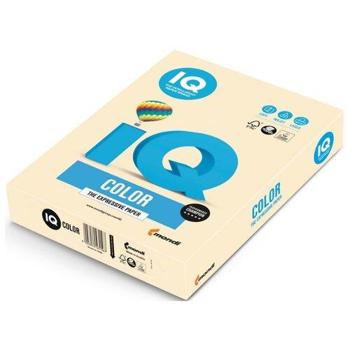 Бумага цветная IQ А4, 80 г, кремовый, пачка 500 листов