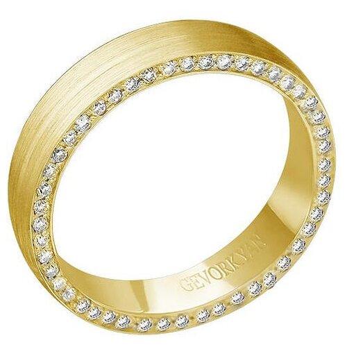 Эстет Кольцо с 49 бриллиантами из жёлтого золота 01О630375, размер 15.5