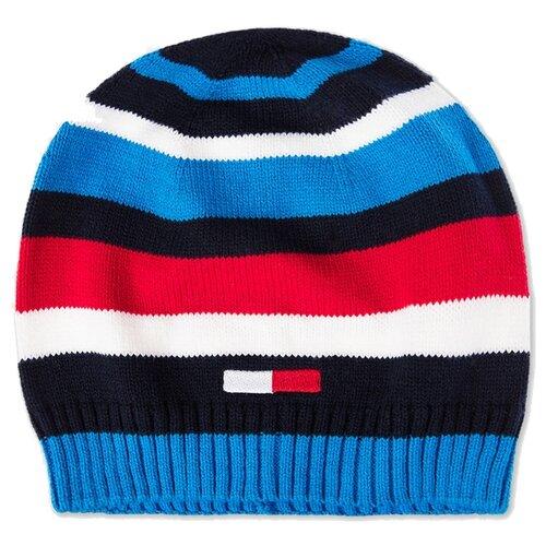 Купить Шапка playToday размер 52, синий/темно-синий/красный/белый, Головные уборы