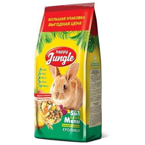 Корм для кроликов Happy Jungle 5 in 1 Daily Menu Основной рацион 900 г