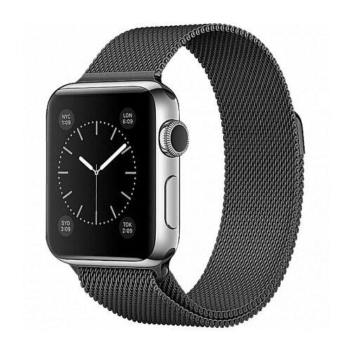 Devia Ремешок стальной Milanese Loop для Apple Watch 38/40mm черный
