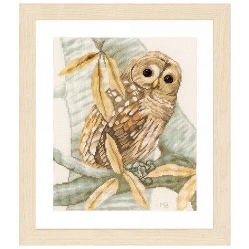 Фото - Lanarte Набор для вышивания Owl and autumn leaves (Сова и осенние листья) 23 х 28 см (PN-0158326) набор для вышивания acufactum осенние