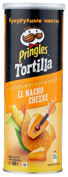 Чипсы Pringles Tortilla кукурузные El Nacho Cheese