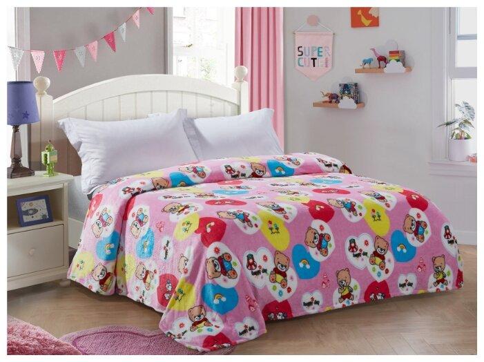 Плед Guten Morgen Плюшевое счастье, 150 x 200 см, розовый