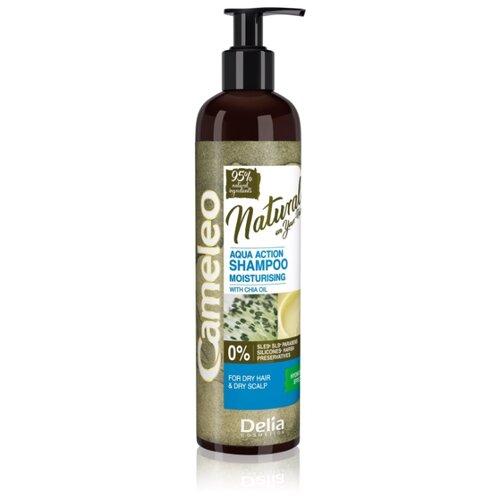 Delia Cosmetics шампунь Cameleo Natural Aqua Action увлажняющий для сухих волос, 250 мл кератиновый кондиционер delia cosmetics cameleo вв объем волос 200 мл