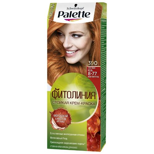 Palette Фитолиния Стойкая крем-краска для волос, 390 8-77 Светлая медьКраска<br>