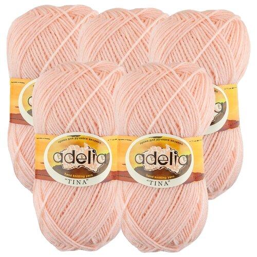 Купить Пряжа Adelia Tina, 100 % акрил, 100 г, 308 м, 5 шт., №015 персиковый
