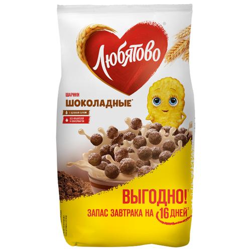 Готовый завтрак Любятово Шарики шоколадные, пакет, 500 г фото