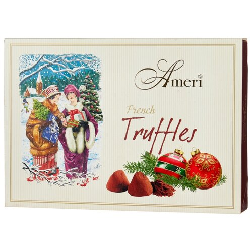 Набор конфет Ameri трюфели классические Канун Рождества с бандажом, 500 г бежевый/коричневый