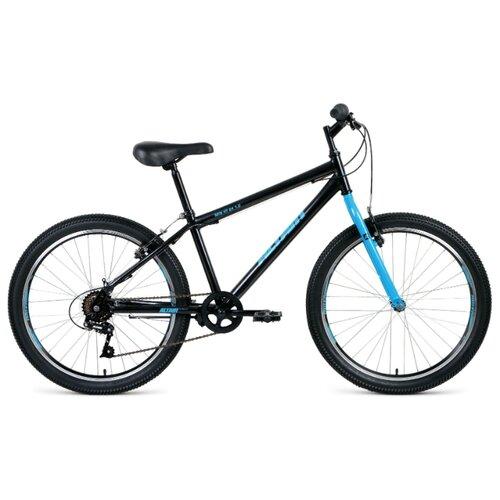 """Подростковый горный (MTB) велосипед ALTAIR MTB HT 24 1.0 (2020) черный/голубой 14"""" (требует финальной сборки)"""
